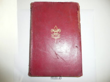 1916 Boy Scout Handbook, Second Edition, Fourteenth Printing, Red Leather binding, some cover and spine wear