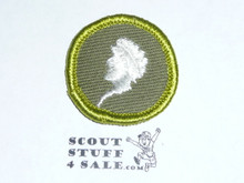 Sculpture - Type F - Rolled Edge Twill Merit Badge (1961-1968)