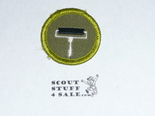 Printing - Type F - Rolled Edge Twill Merit Badge (1961-1968)
