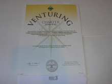 2005 Venturing Scout Crew Charter, unissued and blank
