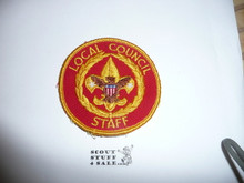 Local Council Staff Patch (LCS1), 1970-?, lt use