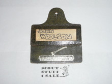 Wood Badge Leather Name Tag #4
