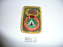 National Camp School r/e Patch, khaki twill