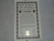 1959 Council Charter Certificate, Chief Okemos Council, 40 year Veteran
