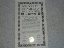 1956 Council Charter Certificate, Stanford Area Council, Original Arthur Schuck Signature, 15 year Veteran