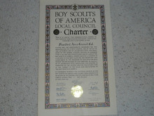 1952 Council Charter Certificate, Stanford Area Council, Original Arthur Schuck Signature, 10 year Veteran