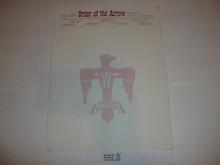 Area XII-E (12E) Order of the Arrow Stationary #2