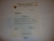 1973 National Jamboree West Staff Assignment Letter