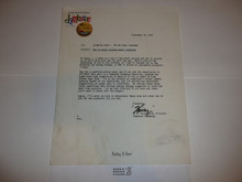1969 National Jamboree Swimming Staff Memo