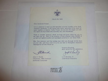 1964 National Jamboree Souvenir Book Cover Note from National