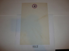 1957 National Jamboree Stationary, memo size