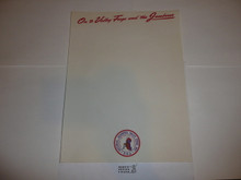 1957 National Jamboree Stationary, full sheet size