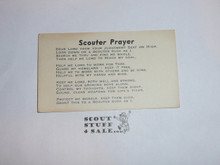 Scouter's Prayer Card