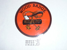 Wood Badge Log, Axe and Beads Sticker