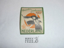 1937 World Jamboree Gummed Seal