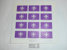Sheet of World Scout Flag perforated gummed decals