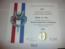 1995 National Eagle Scout Association Certificate, presented #3