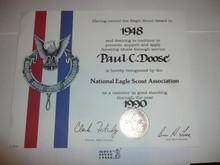 1995 National Eagle Scout Association Certificate, presented #1