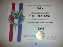 1990 National Eagle Scout Association Certificate, presented #2