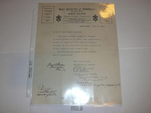 Akron Area Council Stationary, 1924 letter from the Scout Executive and signed by a few other Scout Execs.