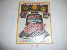 1960 Get out the Vote Boy Scout Door Hanger