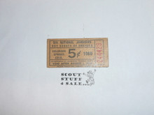 1960 National Jamboree Trading Post Ticket