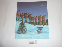 1970's Boy Scouts of America Christmas Card