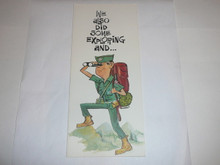 1968 Explorer Scout Birthday Card with Explorer on the Cover, Happy Birthday on the inside