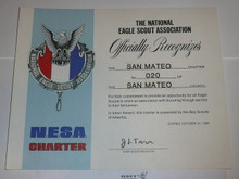 1980 National Eagle Scout Association Charter, San Mateo
