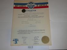 1955 Explorer Scout Post Charter, December, 5 year Veteran unit sticker