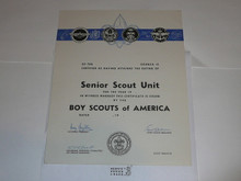 1950's Senior Scout Unit Charter, blank / unissued