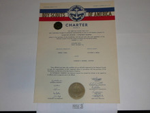 1959 Sea Scout Ship Charter, January, 20 year Veteran Ship Sticker