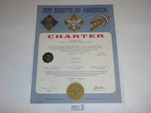 1971 Sea Scout Ship Charter, January, 35 year Veteran Ship Sticker