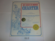 1981 Cub Scout Pack Charter, October, 10 year veteran sticker