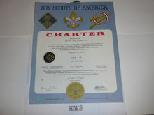 1971 Cub Scout Pack Charter, January, 15 year veteran sticker
