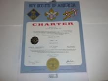 1971 Cub Scout Pack Charter, January, 15 year veteran sticker