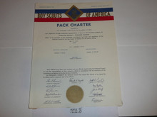 1962 Cub Scout Pack Charter, May