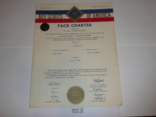 1959 Cub Scout Pack Charter, May, 10 year veteran sticker