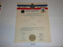 1958 Cub Scout Pack Charter, February, 20 year veteran sticker