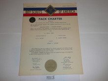 1957 Cub Scout Pack Charter, February, 20 year veteran sticker