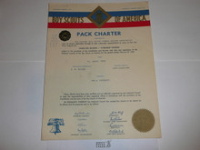 1956 Cub Scout Pack Charter, February, 20 year veteran sticker