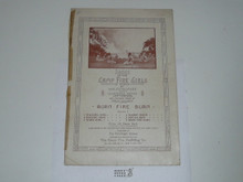 1915 Songs of the Camp Fire Girls of America Sheet Music, Spine Taped