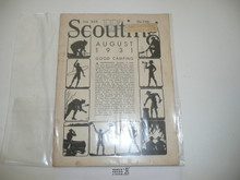 1931, August Scouting Magazine Vol 19 #8