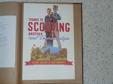 "Poster of Uncle Sam With Scout, ""Thanks to Scouting Another Real American Citizen"" With Room For Publicity, 10""x16.5"" On Cardstock, Affixed to Scrapbook Paper"