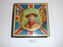 Teens British Boy Scout Biscuit Tin, Carr Co. Limited Biscuit Manufacturers