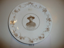 Porcelin Plate for Baden Powell, Defender of Mafeking