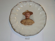 Baden Powell Scalloped Plate With Gold Accents