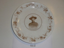 Baden Powell Defender of Mafeking Porcelin Plate, Cracked and Repaired