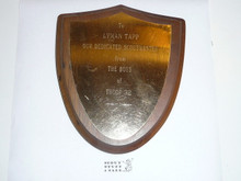 1971 Boy Scout Appreciation Plaque