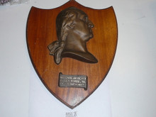 1950 National Jamboree Heavy Cast George Washington Bust on Shield Wall Plaque